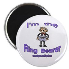 "I'M THE RING BEARER 2.25"" Magnet (10 pack)"
