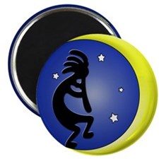 Kokopelli Moon Song Magnet