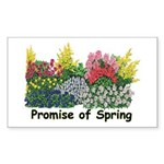 Promise of Spring Rectangle Sticker