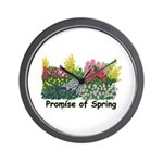 Promise of Spring Wall Clock