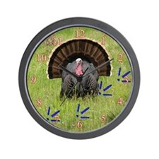 Wild Turkey and Tracks Wall Clock