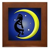 Kokopelli Moon Song Framed Tile