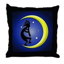 Kokopelli Moon Song Throw Pillow