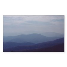 Hazy Appalachian Mountain View Decal