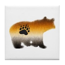 BEAR PRIDE FURRY BEAR 2 Tile Coaster