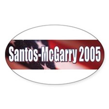 Oval Santos-McGarry 2005 Decal