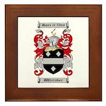 Whitaker Coat of Arms Framed Tile