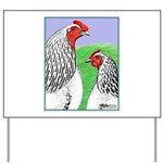 Columbian Cock and Hen Yard Sign