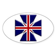 British Iron Oval Decal