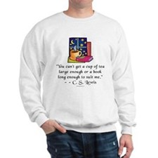 Tea & Books w Quote Sweatshirt