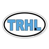 "North Carolina Tarheels ""TRHL"" Oval Decal"