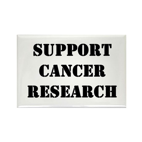 Support Cancer Research Rectangle Magnet