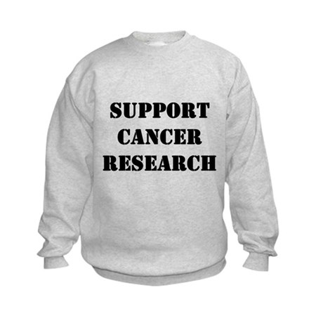 Support Cancer Research Kids Sweatshirt