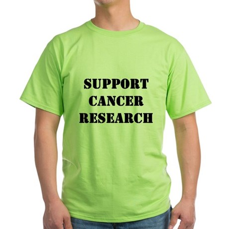 Support Cancer Research Green T-Shirt