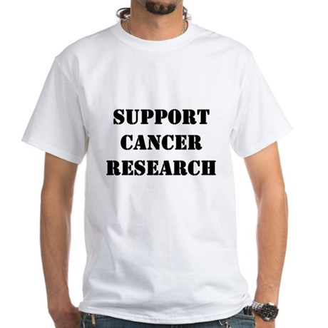 Support Cancer Research White T-Shirt