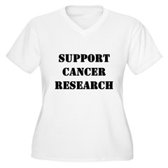 Support Cancer Research Women's Plus Size V-Neck T