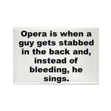 Cute Opera Rectangle Magnet