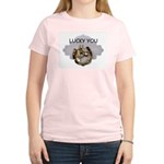 LUCKY YOU  Women's Pink T-Shirt