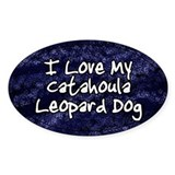 Funky Love Catahoula Leopard Dog Oval Decal