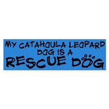 Rescue Dog Catahoula Leopard Dog Bumper Bumper Sticker