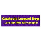 Furry People Catahoula Leopard Dog Bumper Bumper Sticker