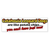 Potato Chips Catahoula Leopard Dog Bumper Bumper Sticker