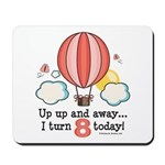 Eighth 8th Birthday Hot Air Balloon Mousepad