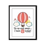 Eighth 8th Birthday Hot Air Balloon Framed Panel P