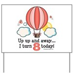 Eighth 8th Birthday Hot Air Balloon Yard Sign
