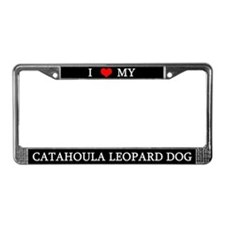Love Catahoula Leopard Dog License Plate Frame