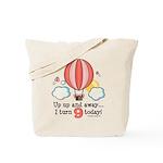 Ninth 9th Birthday Hot Air Balloon Tote Bag