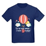Ninth 9th Birthday Hot Air Balloon T