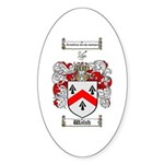 Walsh Coat of Arms Oval Sticker