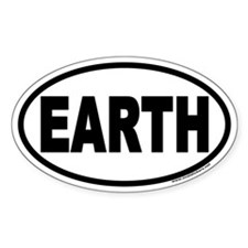 Earth Day EARTH Euro Oval Decal