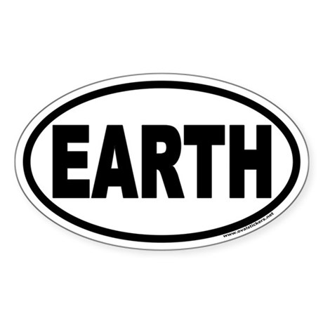 Earth Day EARTH Euro Oval Sticker