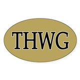 THWG 5x3 Oval Decal