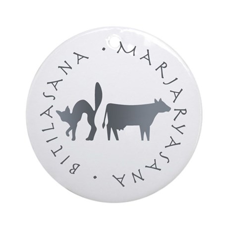 Cat-Cow Ornament (Round)