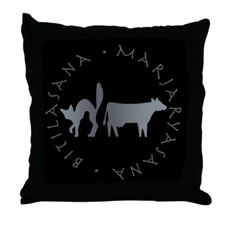 Cat-Cow Throw Pillow