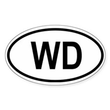 Domonica Oval Decal