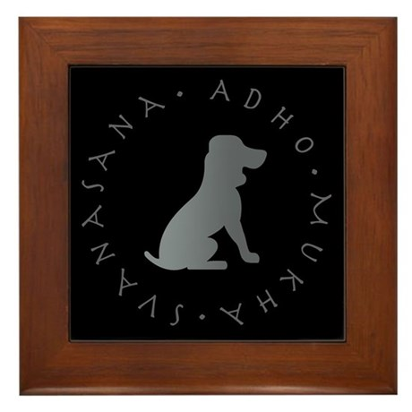 Down Dog Framed Tile