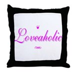 Loveaholic Throw Pillow