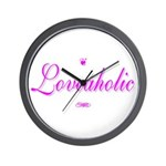 Loveaholic Wall Clock