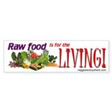 Raw Food Bumper Car Sticker