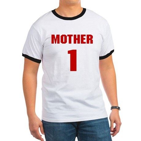 #1 Mother - Jersey Ringer T