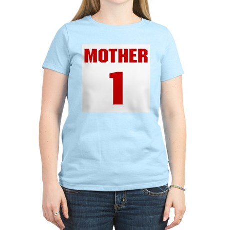 #1 Mother - Jersey Womens Pink T-Shirt