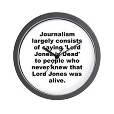 Cute Jones quotation Wall Clock