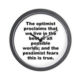 James branch cabell quote Wall Clock