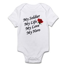 My Soldier Life Love Hero Infant Creeper
