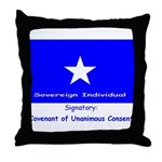 Bonnie Blue, SI, CUC Throw Pillow