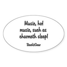 Music Oval Decal